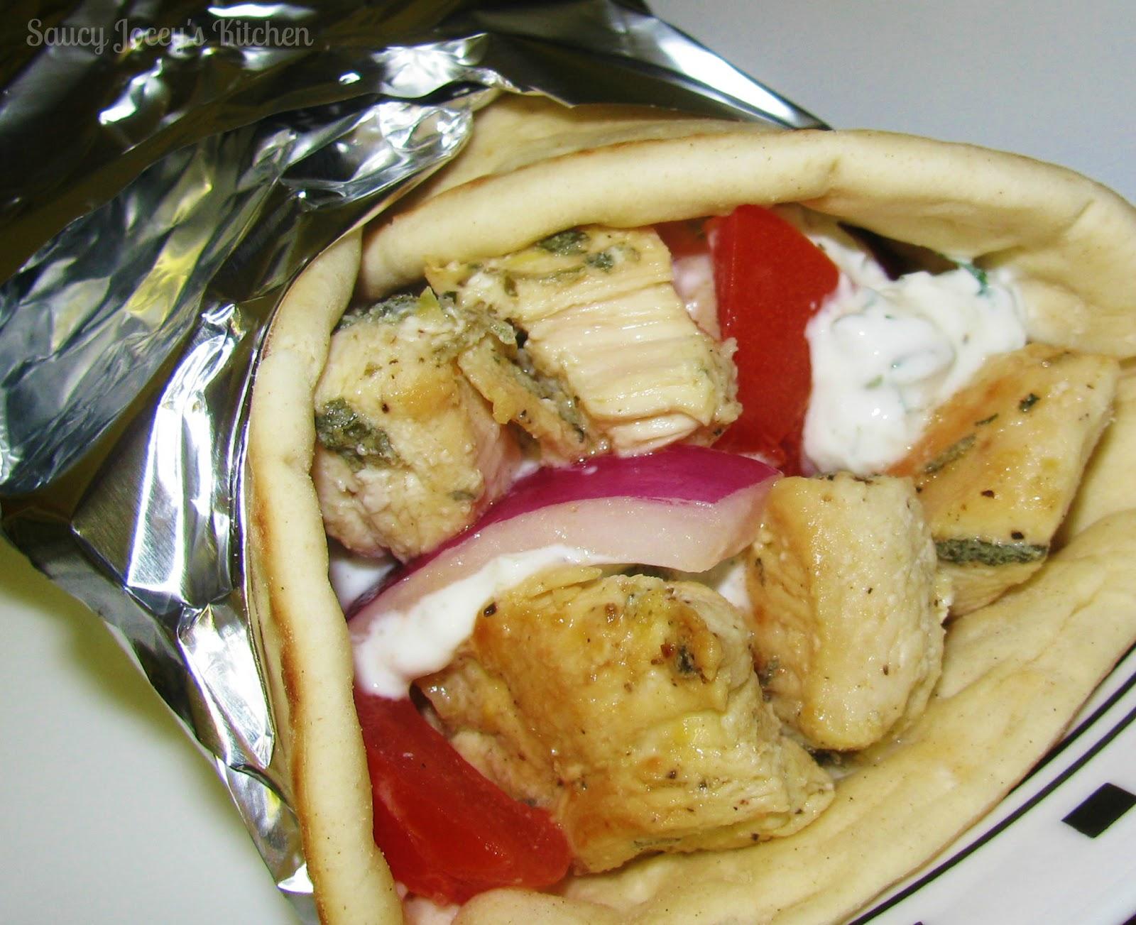 Saucy Jocey's Kitchen: Chicken SouVlaki