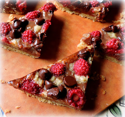 Chocolate Raspberry Pie Bars