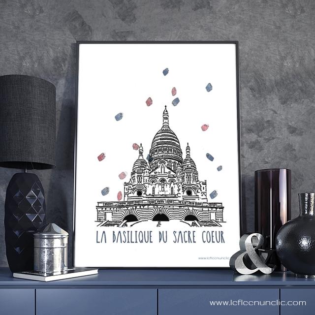le Sacré Coeur, France, Paris, FLE, le FLE en un 'clic', affiche