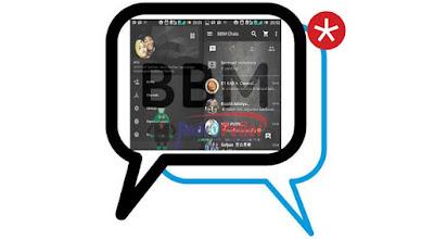BBM MOD Tema Black Textured Apk Terbaru