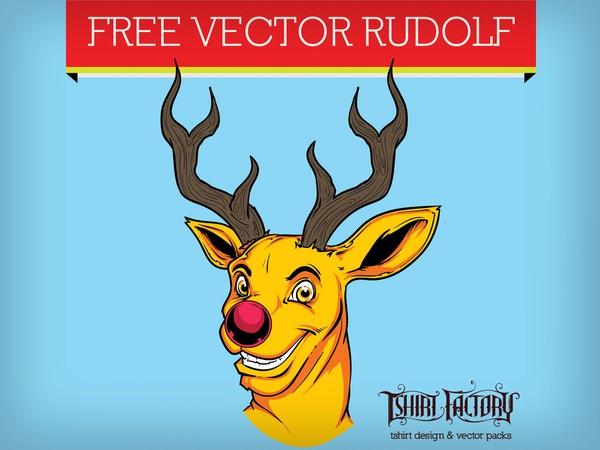 Free vector download – Rudolf reindeer