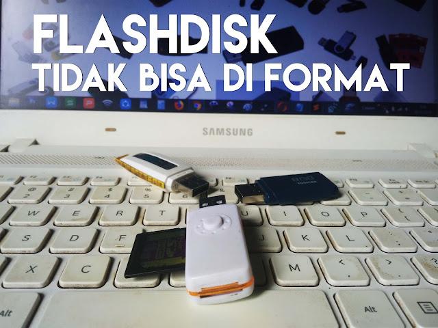 Flashdisk toshiba tidak bisa di format dan write protected