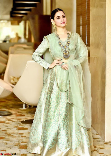 Tamannah Bhatia Stunning in Green Salwar Suit Amazing Beauty Ethnic Suit Feb 2017 01.jpg