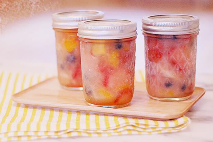 snack fruta congelada para colegio de los niños u oficina comer saludable ahorrar tiempo