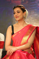Kajal Aggarwal in Red Saree Sleeveless Black Blouse Choli at Santosham awards 2017 curtain raiser press meet 02.08.2017 029.JPG