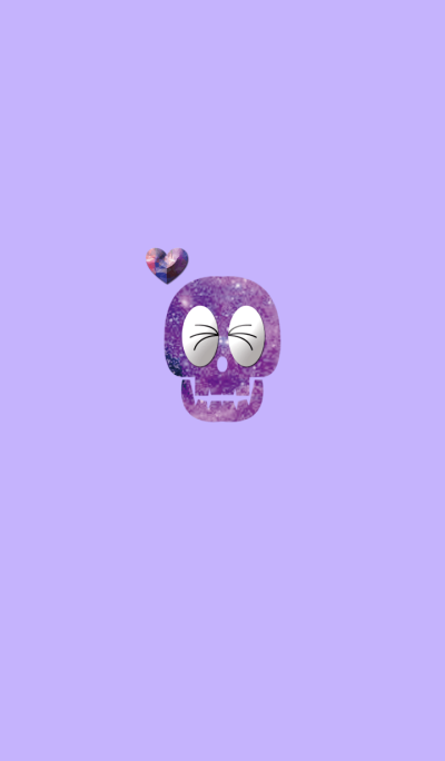 Purple cute skeleton