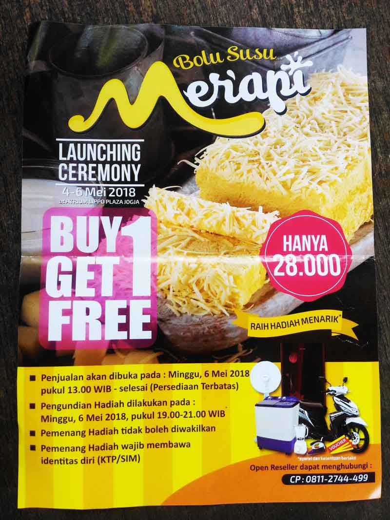 Ragam Lomba dalam Rangka Launching Bolu Susu Merapi Yogyakarta
