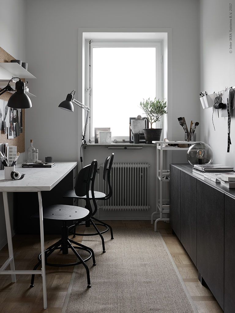 a nice home office makeover by ikea stylists poppytalk. Black Bedroom Furniture Sets. Home Design Ideas
