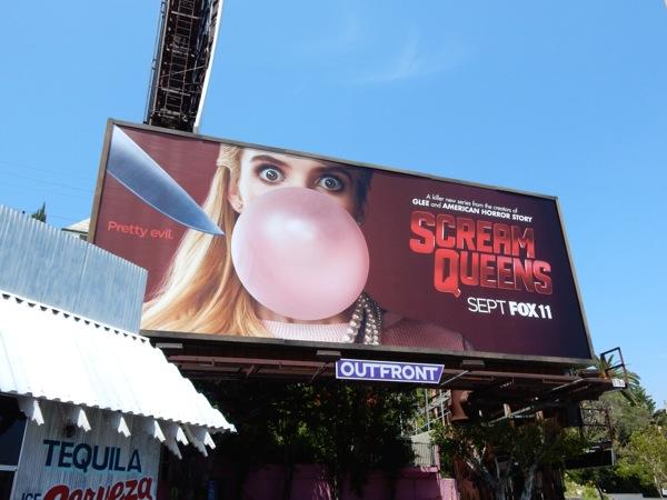 Scream Queens series teaser billboard