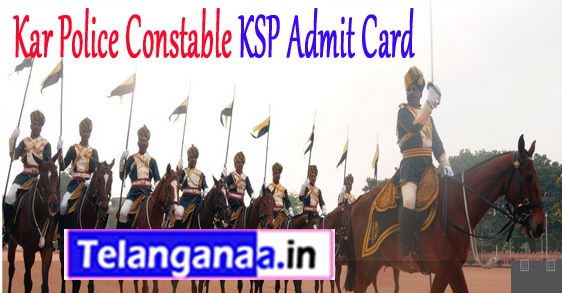 Kar Police Constable KSP Admit Card 2018 Exam Date