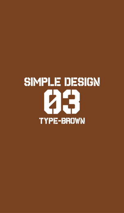 03 with the simple design (brown)