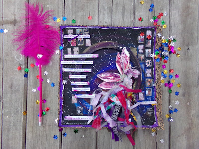 Detalle del layout La magia está en vos - The magic is in you, hadas, textos fotos