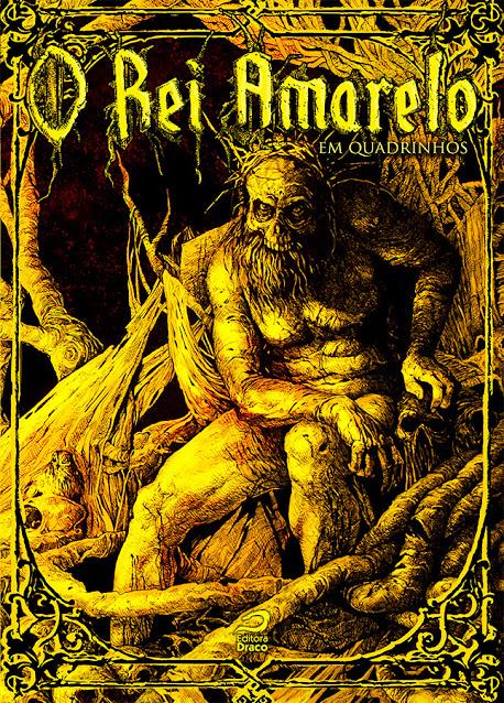 Capa de O Rei Amarelo em Quadrinhos