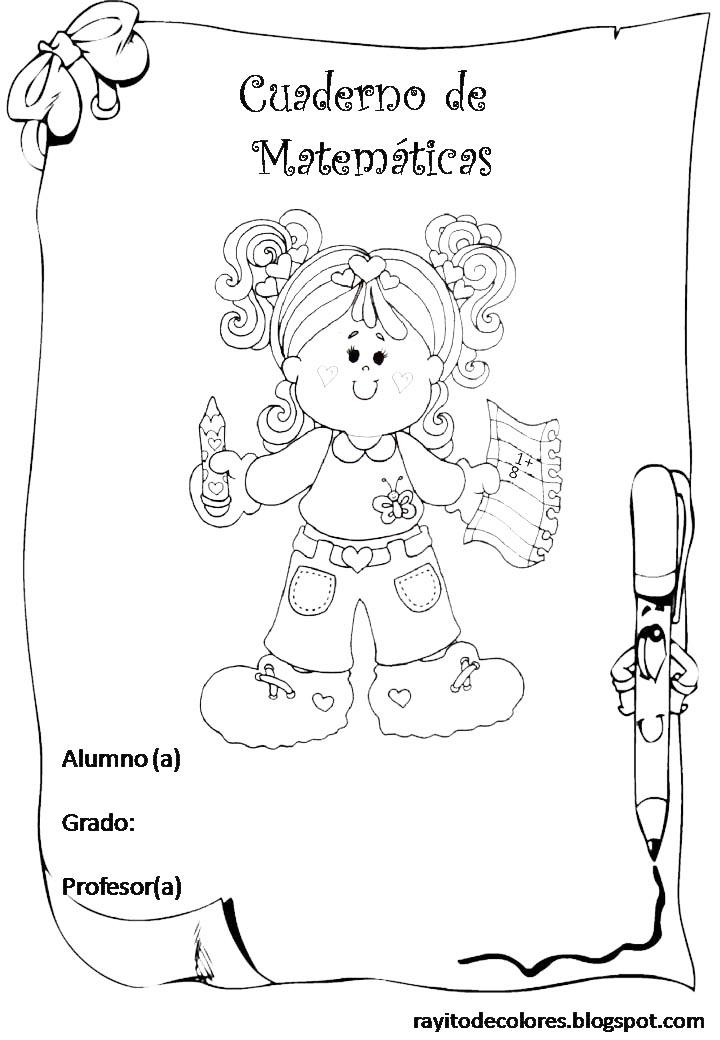 Rayito de Colores: Carátulas escolares con Fofuchas