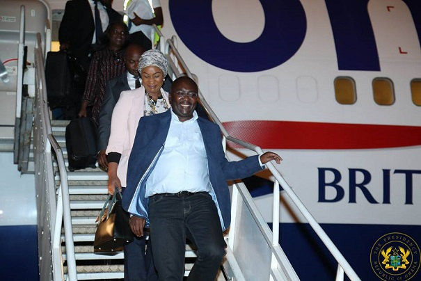 Dr. Bawumia Finally Returns Home After Medical Attention In UK