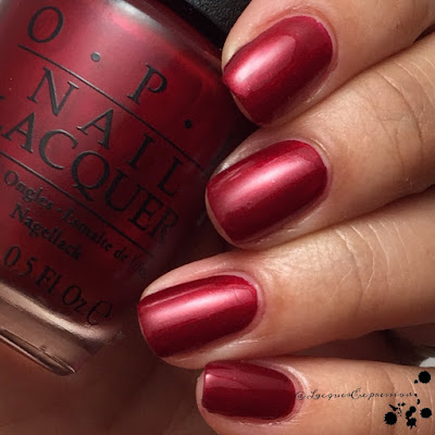 Swatch of Ro-Man-Ce on the Moon nail polish by OPI