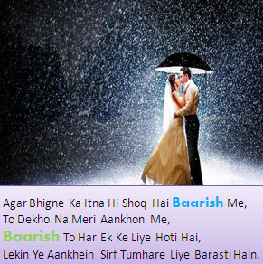 Impressing Girlfriends Romantic DP Images in rain season