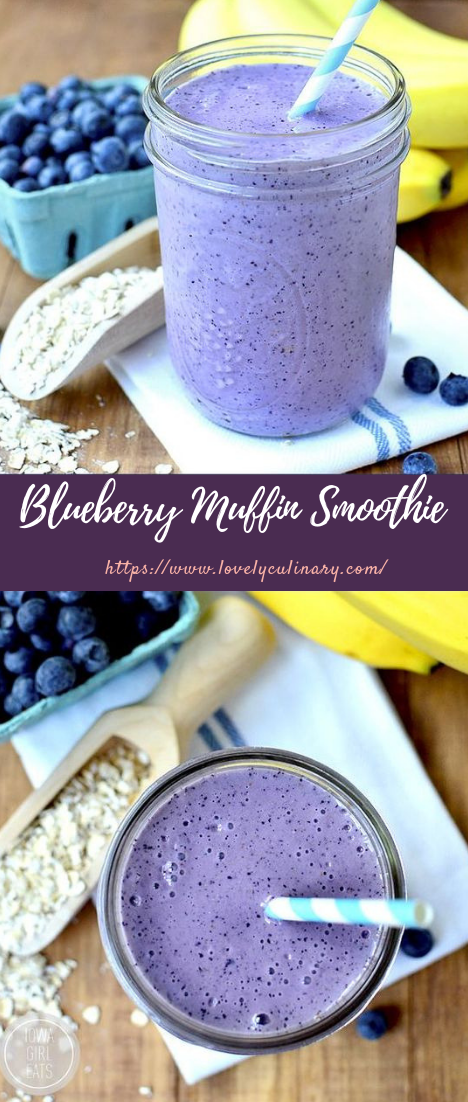 Blueberry Muffin Smoothie #healthydrink #smoothiejuice