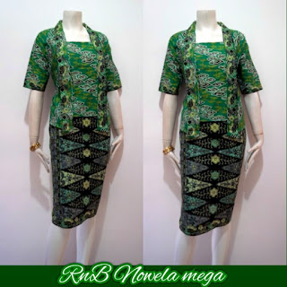 Baju Batik Dress Nowela