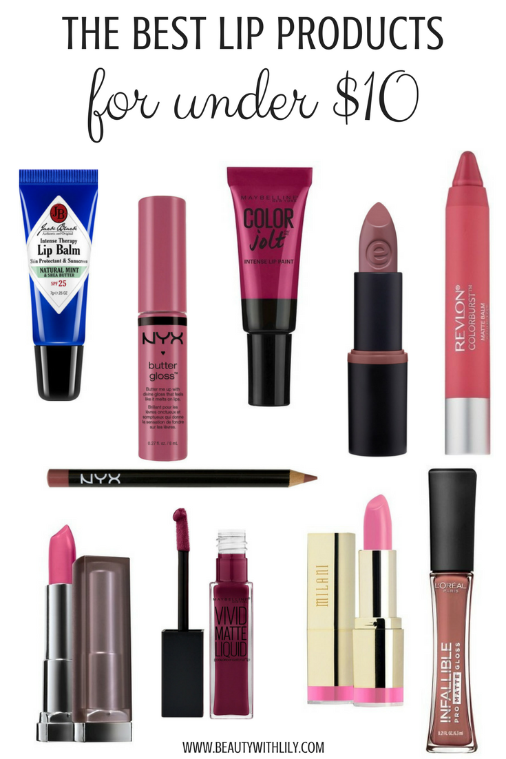 Best Lipsticks UNDER $10 // Affordable Makeup Products // Cheap & GOOD Makeup | beautywithlily.com