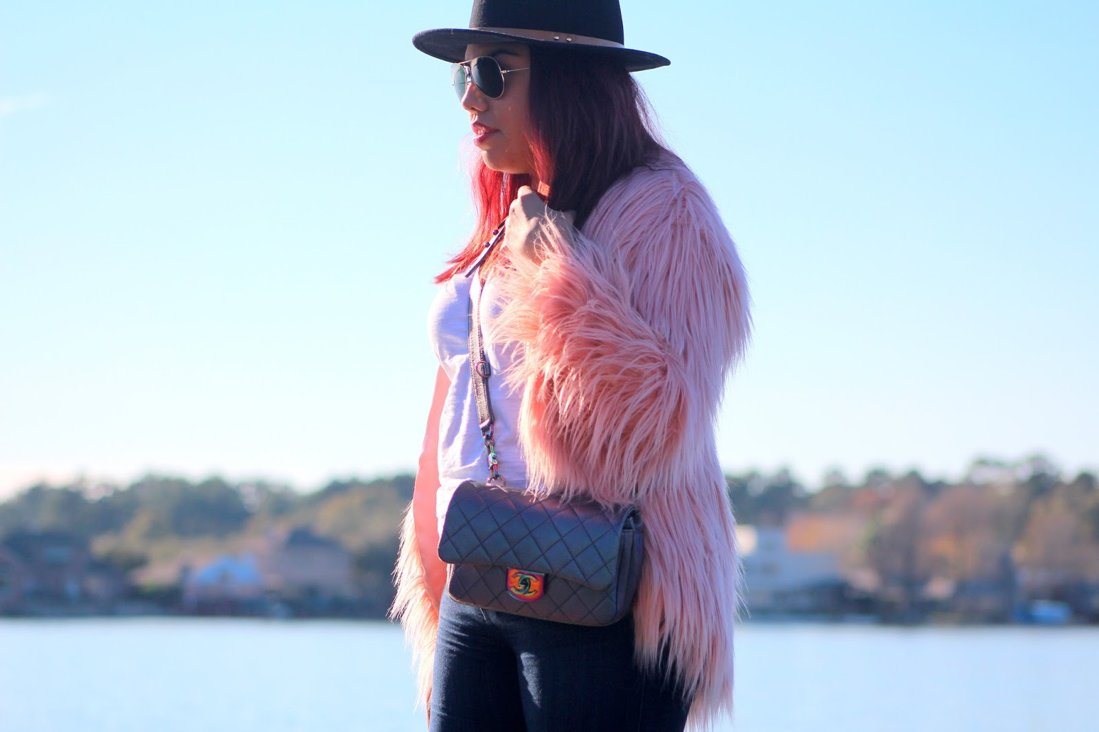 Pink Reflections | Calm Waters & Shaggy Fur