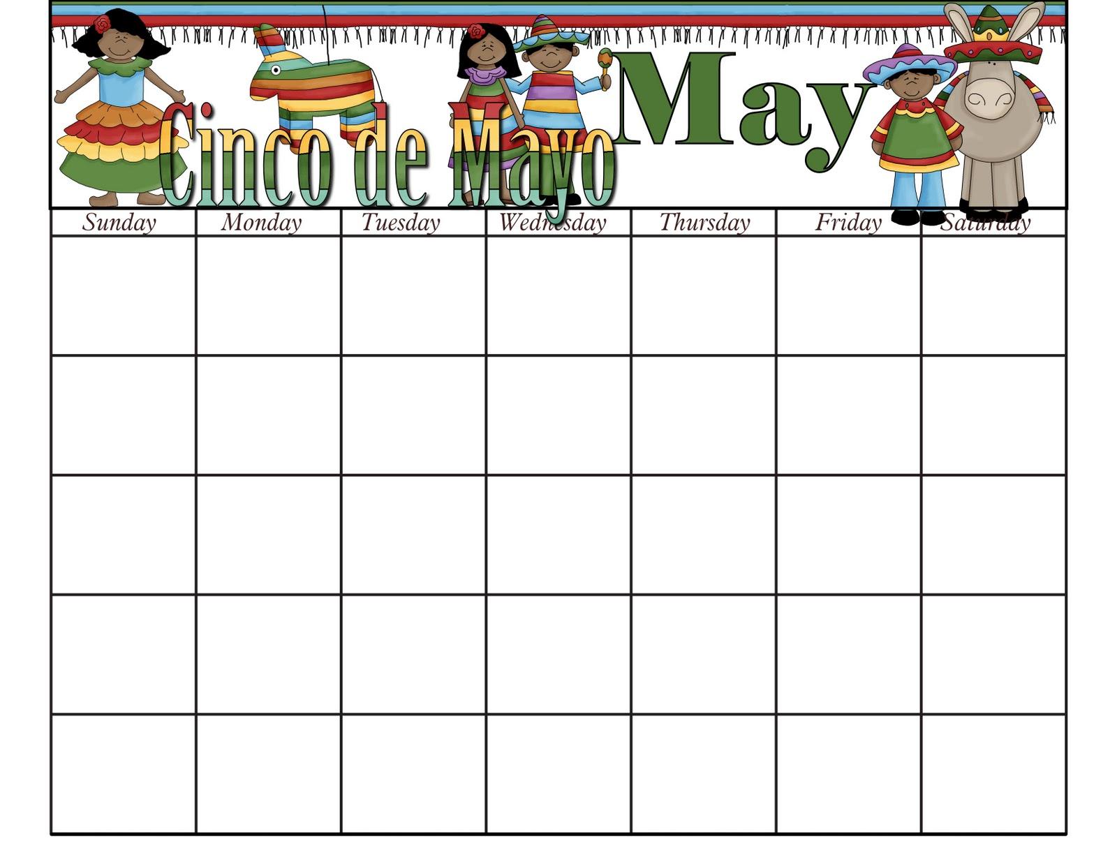 Patty Wraps May Calendar