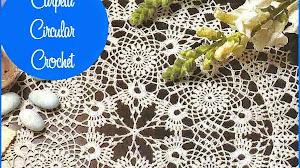 Patron de carpeta circular tejida al crochet