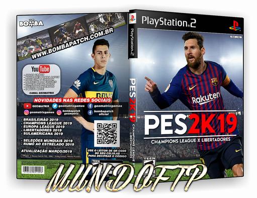 PES 2K19 Champions League Vs  Libertadores-2019-ISO-CAPA DVD
