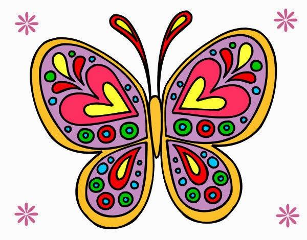 Dibujos De Mariposas Infantiles A Color: Dibujos Para Colorear. Maestra De Infantil Y Primaria
