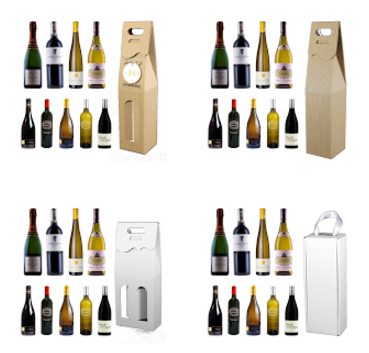 pudełka ozdobne na wino