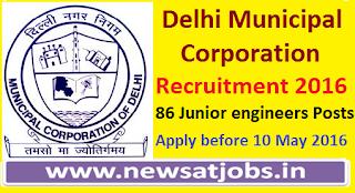 delhi+municipal+coroporation+recruitment+2016