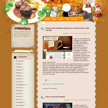Spoil Your Stomach in France Blogger Template. free download template blogspot. download recipes and cooking blogger template