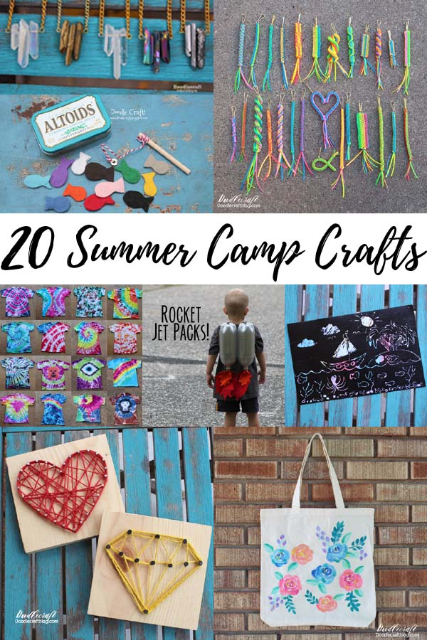 Summer camps are all about crafting, these 20 craft ideas are perfect for upcoming summer break.