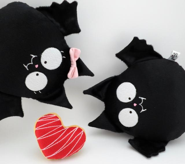 Murciélagos de peluche guyuminos Pareja para boda personalizada,vampiro gótico dark kawaii regalo aniversario novios figuras