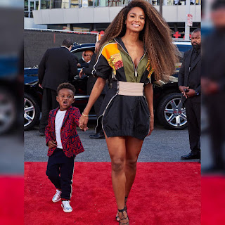 Photos Ciara and son Future Jnr at the 2018 #Amas