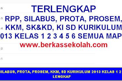 RPP, SILABUS, PROTA, PROSEM, KKM, SD KURIKULUM 2013 KELAS 1 2 3 4 5 6 LENGKAP