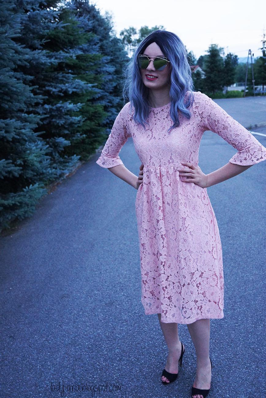 Cape style dress