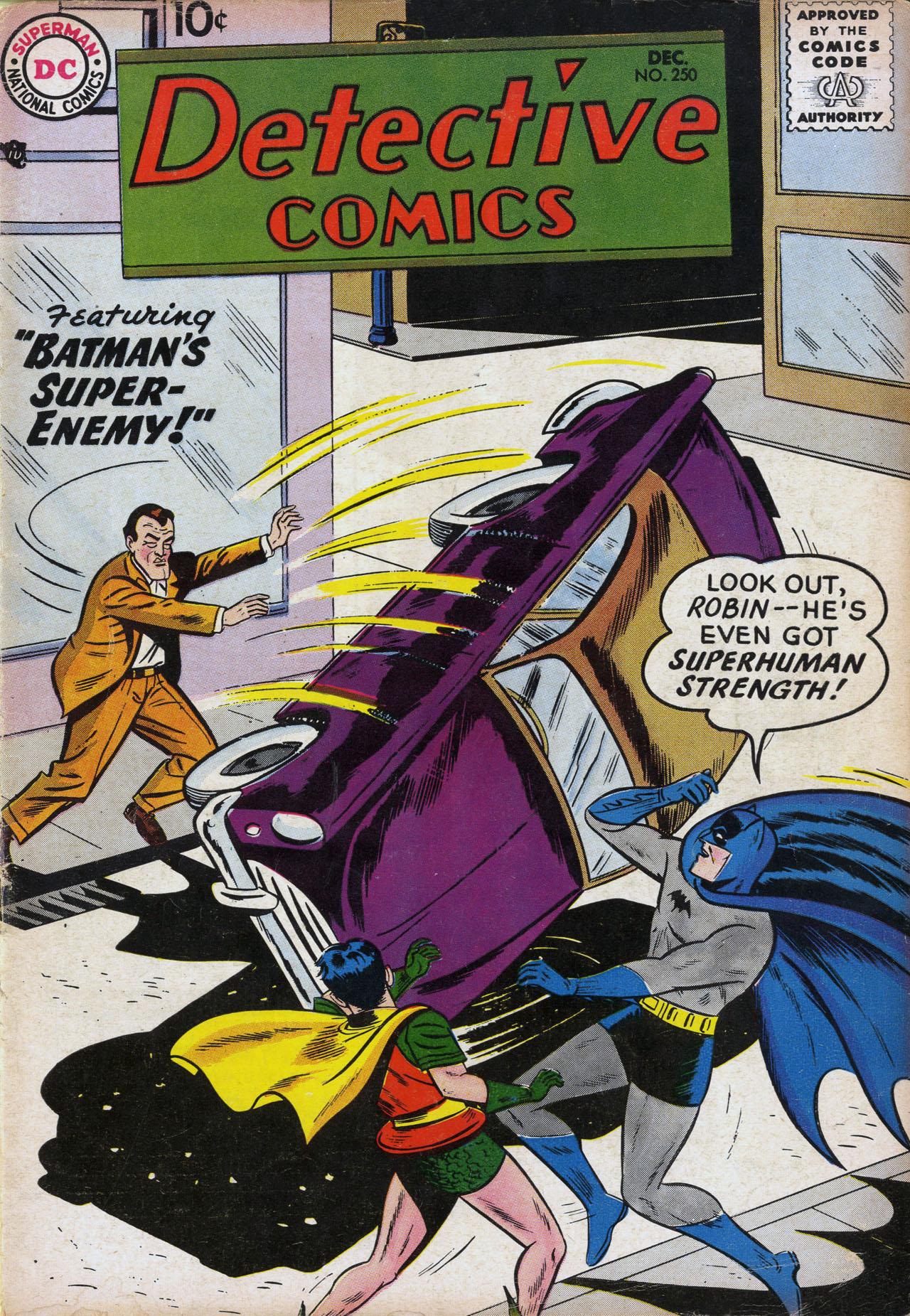 Read online Detective Comics (1937) comic -  Issue #250 - 1