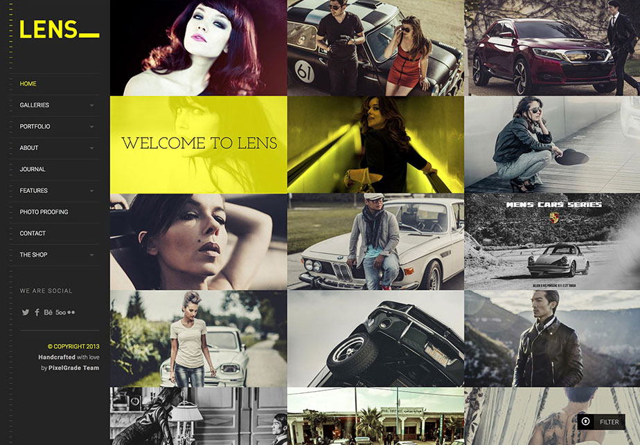 LENS - An Enjoyable Photography WordPress Theme