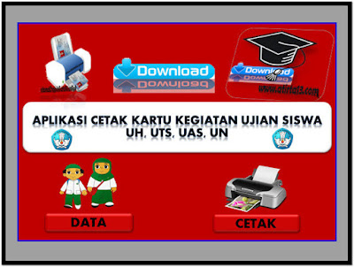 Aplikasi Cetak Kartu Kegiatan Ujian Sekolah