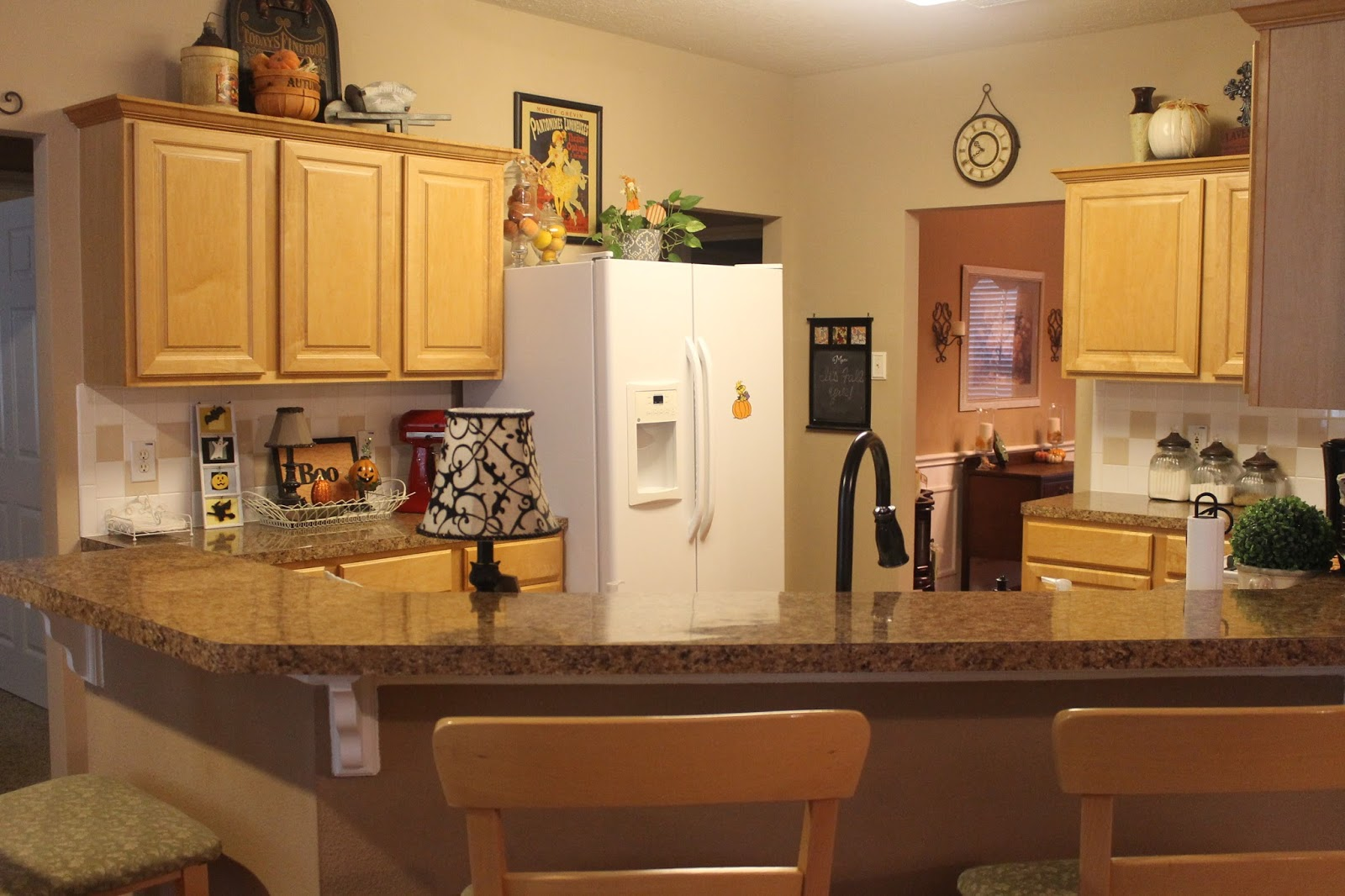 fall kitchen curtains refacing cabinets before and after owl decorations house furniture