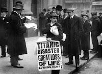 Noticia de la tragedia del Titanic