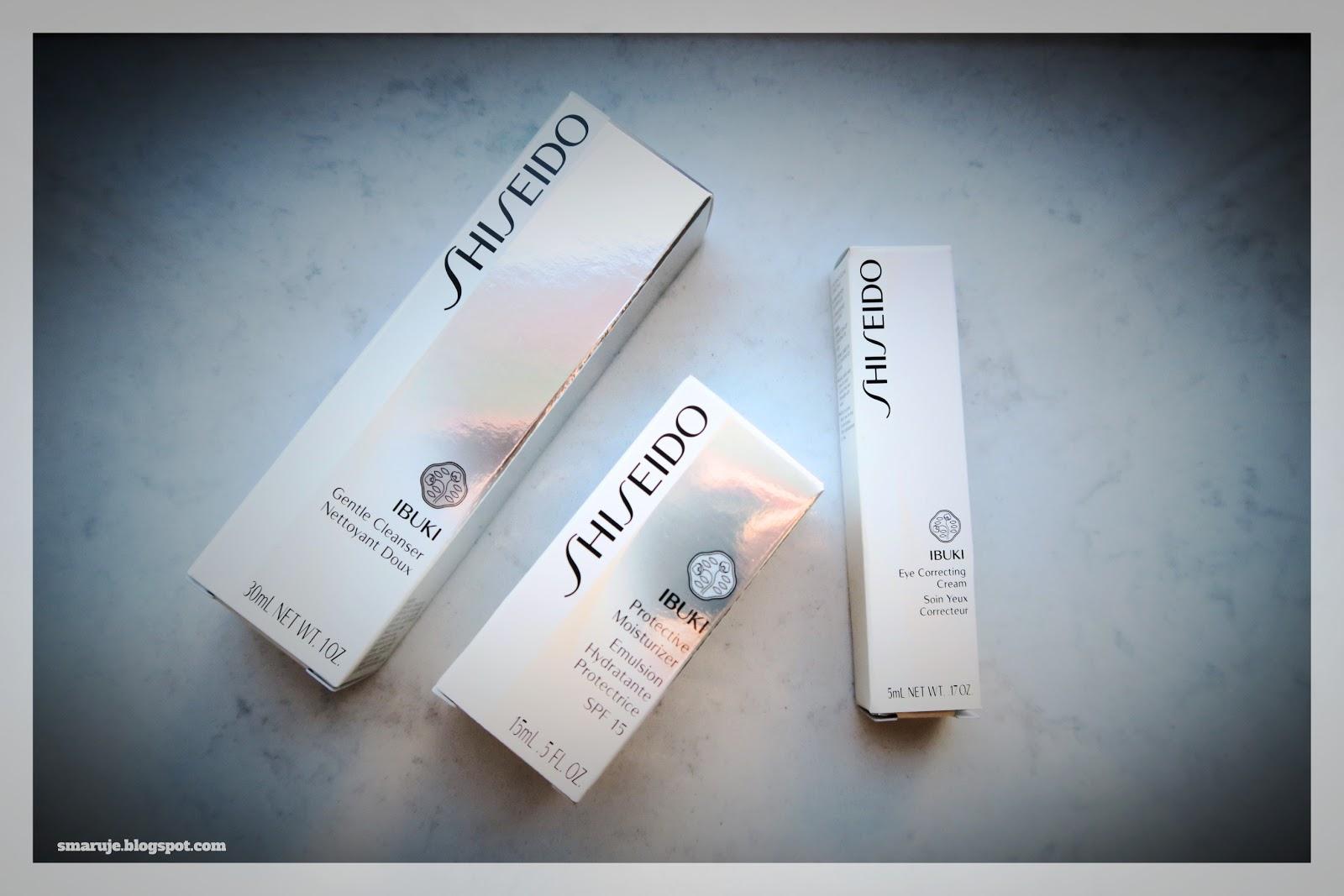 Shiseido –seria Ibuki –minirecenzje miniproduktów