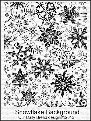 Stamps - Our Daily Bread Designs Snowflake Background