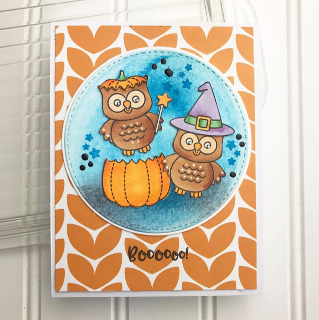 Sunny Studio Stamps: Sunny Saturday Happy Owl-o-ween Card Share by Teri