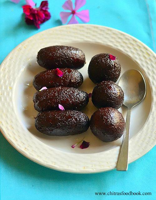 Kala jamun using instant gulab jamun mix