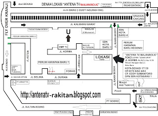 Peta Lokasi Toko Antena TV Bagus Wajanbolic Bekasi