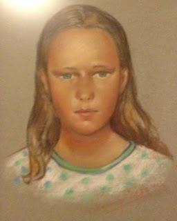 Portrett-tegning av Gro Jeanette Nilsen.