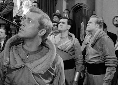 "Don Dubbins, Jeff Morrow and Kevin Hagen in ""Elegy,"" The Twilight Zone, 1960"