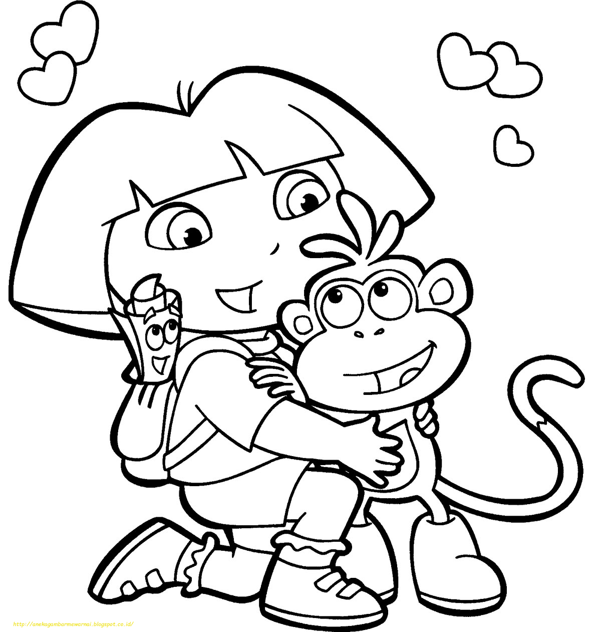 Mewarnai Dora Coloring And Drawing